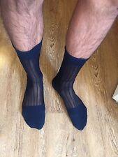 Men's Worn Sheer See Through Socks