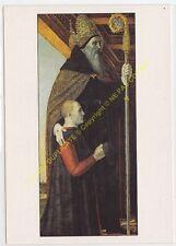 CP TABLEAU BERGOGNONE Saint Augustin et un Donateur