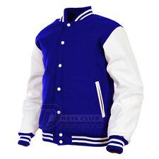 Varsity College Baseball Sportsman Wool & Real Leather Jacket sz XS~4XL