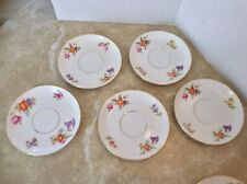 Thomas Bavaria Saucers and KPM Germany Saucers Lot Of 8 Unique
