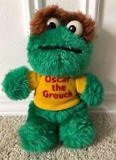 Vintage Knickerbocker Oscar The Grouch Plush Green Jim Henson 1981 Sesame Street