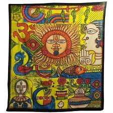 Couverture Tenture indienne SOLEIL multicolore 235x200cm Coton Décoration