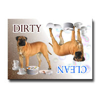 BULLMASTIFF Clean Dirty DISHWASHER MAGNET No 1 New DOG