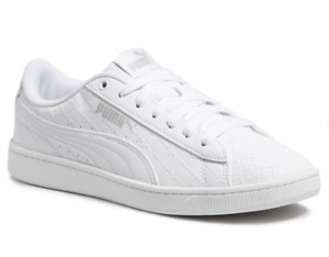 A-08  Puma Vikky V2 Iridescent White Shoes For Women Size 8