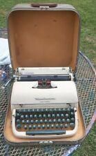 Vintage 1957 Remington Quiet-Riter Miracle Tab Typewriter In Case Tan Green Keys