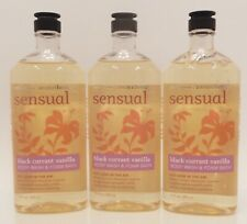3 BATH & BODY WORKS AROMATHERAPY SENSUAL BLACK CURRANT VANILLA BODY WASH 10oz