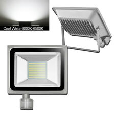 100W LED PIR Motion Sensor Flood Light Cool White Spotlight Outdoor Lamp AC240V