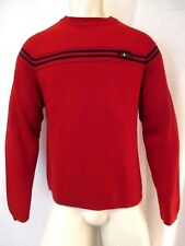 ABERCROMBIE & FITCH A+92 CREW NECK PULL OVER MEN'S SWEATER SZ LRG RED VIC-THOR1