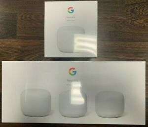 Google Nest Smart Mesh Wi-Fi by Google Assistant - 4 Pack NEW Free Shipping USA