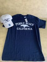 NWT Hat & T Shirt Combo Set Pebble Beach Golf *Cap & Tee* SZ Med Mens T-shirt