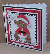 Personalised Bear Baby Boy 1st Christmas Card Son Grandson Godson...with Verses