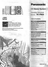 Panasonic CD Stereo System SC-PM29 Operating Instructions Manual OEM