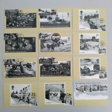 2019 75th Anniversary D-Day set of 12 PHQ Postcards 12 diff pmk First Day Front