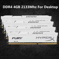 Pour Kingston HyperX 4GB 8GB 16GB PC4-17000 DDR4 2133MHz White Desktop Memory FR