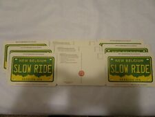 Lots of New Belgium Brewery Slow Ride IPA License Plate postcard style Coasters