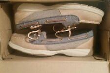 Women's Sperry Boat Shoes Top-Sider Tan Leather Loafer Size 6