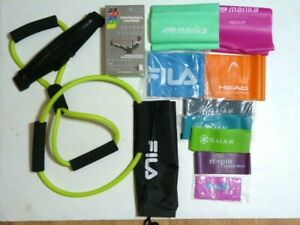 NEW* 17 x resistance bands:Gaiam, Limm, Jillian, Fila + FREE carrying case