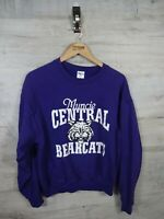 vtg central bearcats spellout sweatshirt sweater jumper refA19 M women