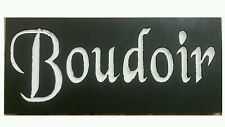 BOUDOIR French Bedroom Paris Apt Chic Shabby Sign Decor Shabby You Pick Colors!