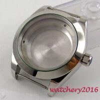40mm Stahl 316L Silber gehärtet Uhrengehäuse Fit ETA 2836 8215 Automatikwerk