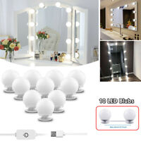 Make Up Mirror Lights 10 LED Kit Bulbs Vanity Light Dimmable Lamp Hollywood PE