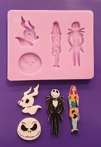 NIGHTMARE BEFORE CHRISTMAS SILICONE MOULD FOR CAKE TOPPERS CHOCOLATE, CLAY ETC