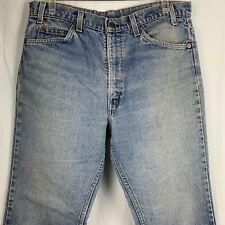 Vintage 80s Levis Denim Jeans Orange Tab 5 Pocket Med Wash Straight Leg Button