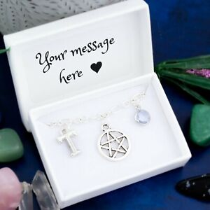 Pentacle Bracelet, Personalised Gift, Witchy Jewelry, Pagan Protection Symbols