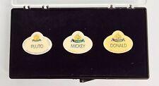 Disney DLR 50th Anniversary Cast Member Exclusive Name Tag Badge Pin Set