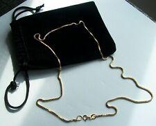 BEAUTIFUL ITALIAN 750 (18K) SOLID YELLOW GOLD BOX LINK CHAIN