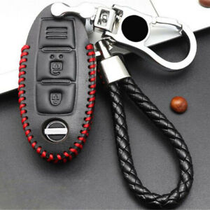 Leather Remote Key Case Cover Shell Keychain Kit For For Nissan Altima 2018-2019