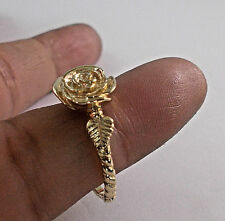 14 KT SOLID YELLOW GOLD ROSE RING SIZE 9