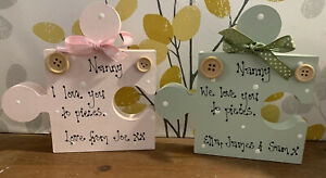 Personalised Wooden Nanny Puzzle Piece We Love To pieces Birthday Christmas Gift