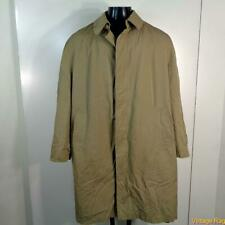MISTY HARBOR Vtg Long RAINCOAT Rain Trench Coat Mens Size L 42 khaki
