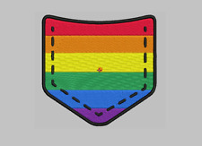 "Gay pride patch embroidered Patch 4"" x 4"" sew on"