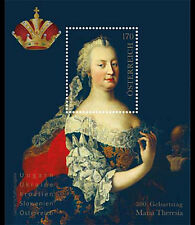 AUSTRIA EMPRESS MARIA THERESIA 2017 GOLD FOIL SHEET FRESH MNH