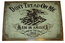 "Don't Tread On Me USA Eagle Land Of The Free America 12.5""x16"" Metal Plate Sign"