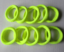 Yellow 10pcs Girls elastic hair ties band rope ponytail bracelets FFF8040
