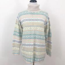 Vintage Pastel Fairy Kei Kawaii Floral Sweater Size Small Turtleneck Paul Harris