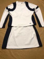 New High School Varsity Cheerleader Cheerleading Uniform Grey Navy 2Xl 42/36