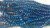 Joblot of 10 strings (720 beads) 8mm Blue AB Finish Crystal beads new wholesale