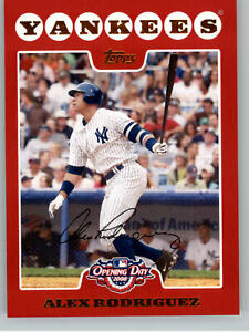 2008 Topps Opening Day  #1 Alex Rodrguez - New York Yankees