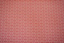 Dolls House 1/12th Scale Embossed Red Brick Wall Paper