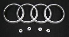 Audi 4H0103940 Motorabdeckung Original Schriftzug Emblem Matt inkl. Befestigung