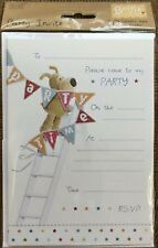 Pack of 20 Boofle Party Invitations Sheets & Envelopes - Occasions Birthday Card