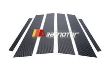 Carbon Fiber B Pillar Panel Decal Trim Cover 6PC for Mercedes W205 Sedan C-Class