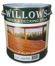 Willows Timber Deck Furniture Window Beams Stain Paint OiL Based 4L Green Pine