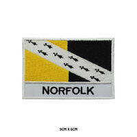 NORFOLK County Flag With Name Embroidered Patch Iron on Sew On Badge