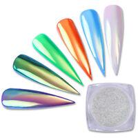 BORN PRETTY Nail Glitter Powder  Mirror Neon Pigment Nail Art Chrome Dust