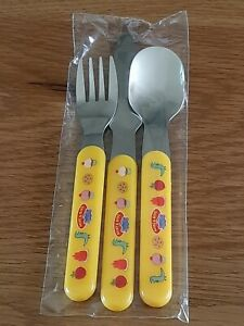Peppa Pig Childrens Toddler 3 Piece Cutlery Set Knife Fork Spoon Make & Bake New